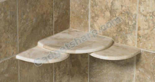 Topio Corner Shower Shelf in Cappuccino