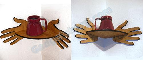 Hands Corner-Shelf