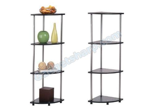 Convenience Concepts Style 111075 4-Tier Corner Shelf