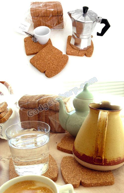 Cork bread-shaped trivet