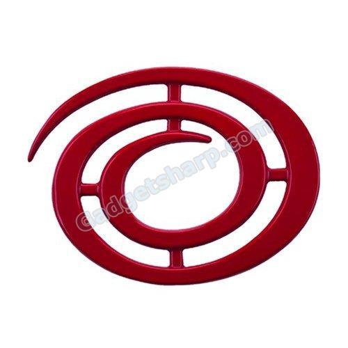 Range Kleen 8 Inch Range Kleen Swirl Red Trivet