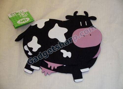 Black and White Cow Set of 2 Trivet Hot Mats