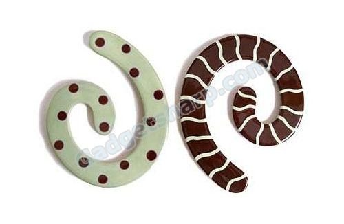 Chocolate Mint Spiral Trivet Twist Set by Berryware