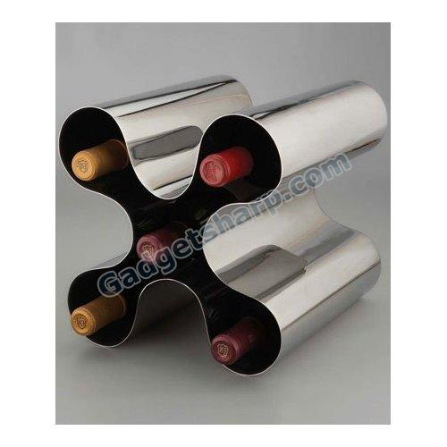 Nambe Morphik Staineless Steel Wine Rack