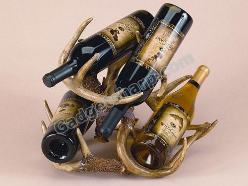 River's Edge Deer Antler Wine Rack