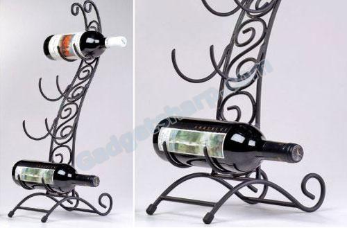 Cello 4 Bottle Wine Rack is Perfect for the Musician