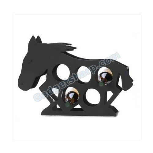 Modern Art Mustang Horse Spirit Metal Wine Bottle Rack