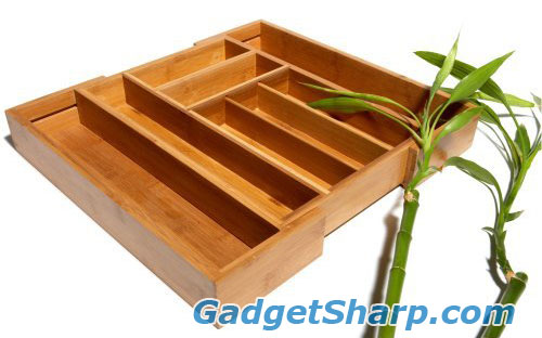 Pinzon Bamboo Expandable Gadget / Cutlery Tray