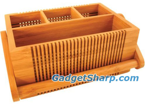 Totally Bamboo Lattice Flatware Caddy