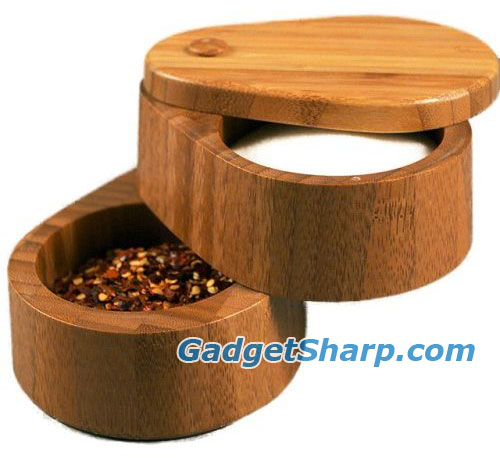 Bamboo Double Salt Box