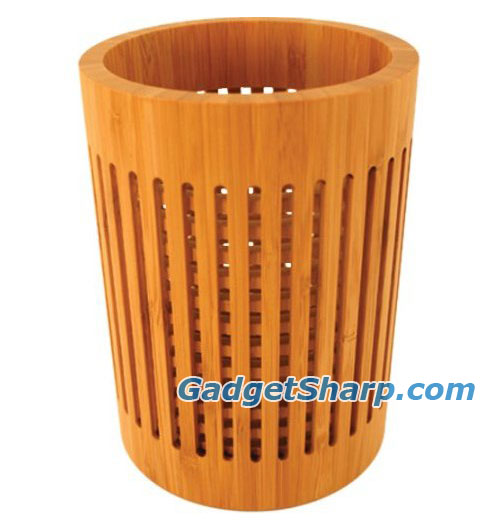 Bamboo Lattice Utensil Holder