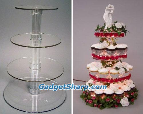 Acrylic Cake Stand or Cupcake Stand