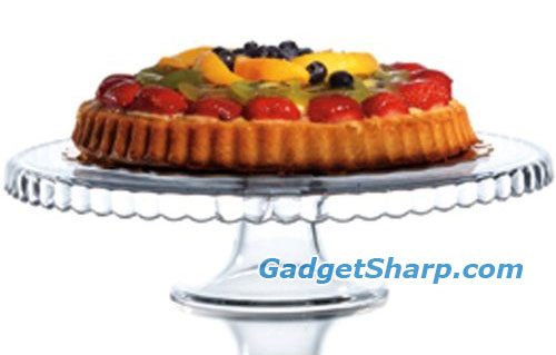 Clear Glass 12 Pedestal Cake Stand