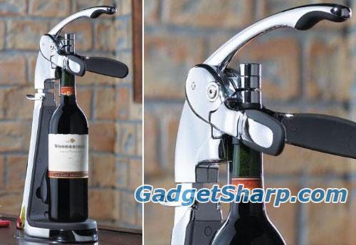 Countertop Wine Opener : 13. Connoisseur?s Countertop Wine Opener [ amazon ]