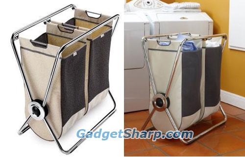 simplehuman double x-frame laundry hamper