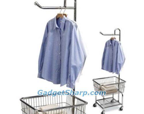 Chrome Laundry Cart and Hanger