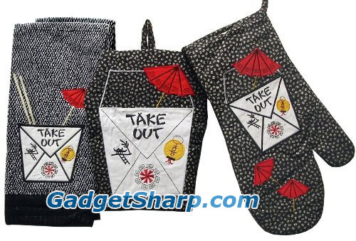 Chinese Take Out Kitchen Towel, Oven Mitt, Pot Holder