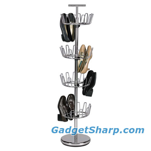 Household Essentials Revolving 4-Tier Shoe Tree