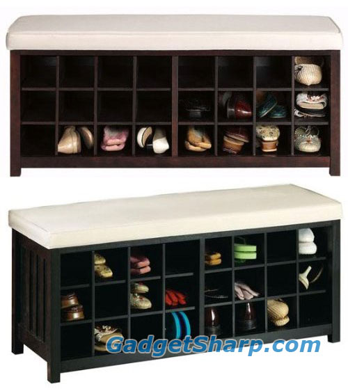 Mission - style 24 - pair Shoe Storage Bench