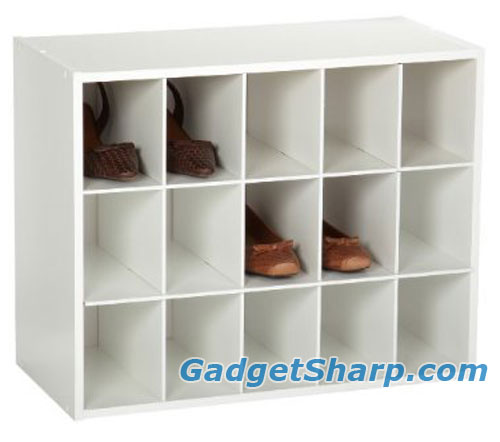 ClosetMaid 15-Cube Laminate Shoe Organizer