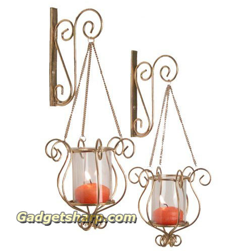 Hanging Sconce Duo-Gold Finish