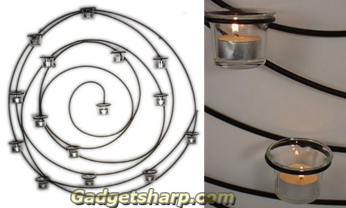Candle Holder Designer Iron Art Wall Sconce