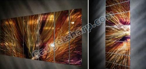 Large Abstract Metal Wall Art by Artist Ash Carl