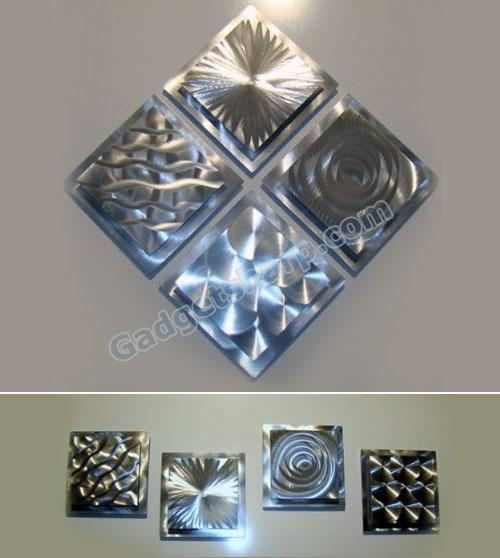 Modern Abstract Metal Wall Art Sculpture