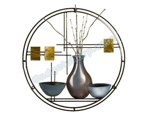 Stained Glass Vase and Bowl Wall Art