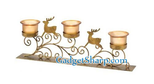 Reindeer Votive Candle Holder Christmas Holiday Decor