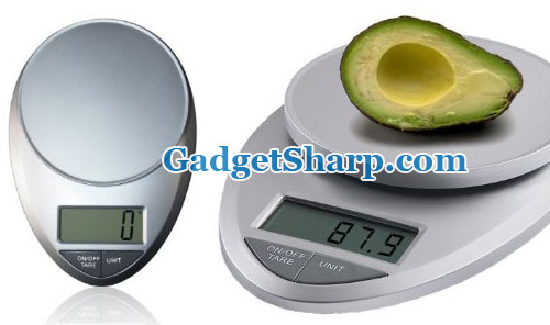 Multifunction Digital Kitchen Scale w/ Extra Large LCD and 11 Lb. Capacity