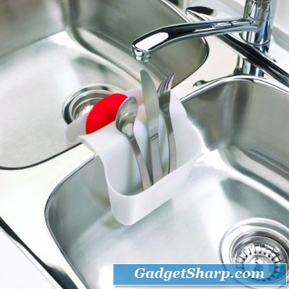 Umbra SADDLE Style Sink Caddy for double sinks Large White