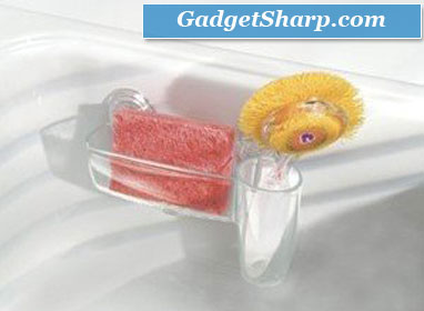 Power Lock Suction SinkWorks Sponge and Scrubber Combo