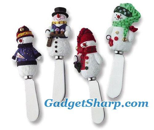 Spreader Set of 4 - Snowman