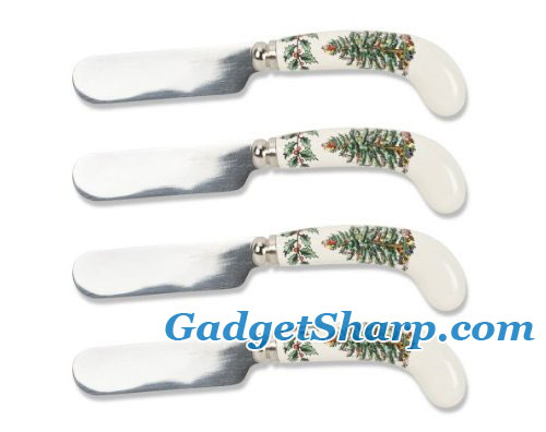 Spode Christmas Tree Cheese Spreaders