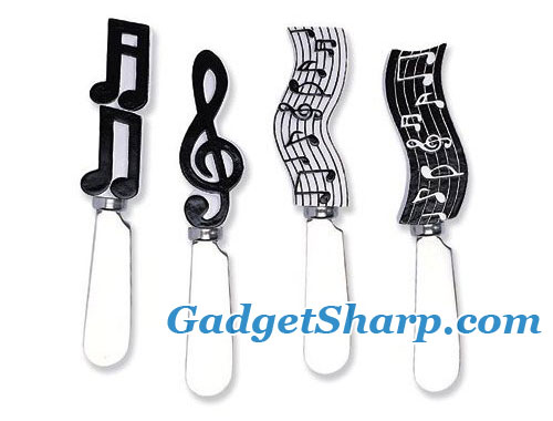 Spreader Set of 4 - Musical Notes