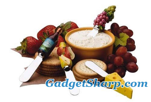 Gourmet Wine and Cheese Themed Stainless Steel Spreaders