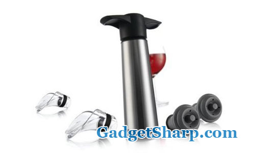 Vacu Vin Stainless Steel Wine Saver Gift Set