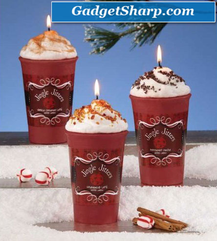Treats Novelty Jingle Jitters Latte Christmas Candles