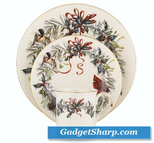 Winter Greetings 12-Piece Dinnerware Set