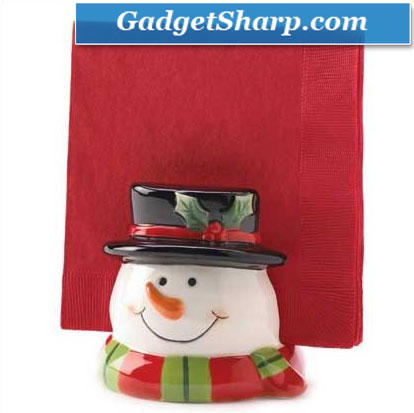 Holly Jolly Snowman Napkin Holder