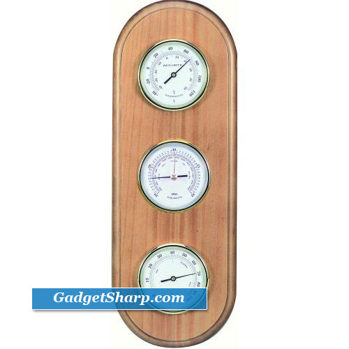 Chaney Instrument Oak Finished Weather Station