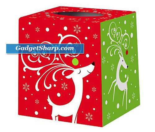 Dashing Reindeer Tissue Box Cover
