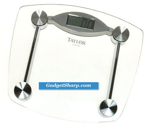 Taylor Precision Tech Lithium-Battery Electronic Glass/Chrome Scale