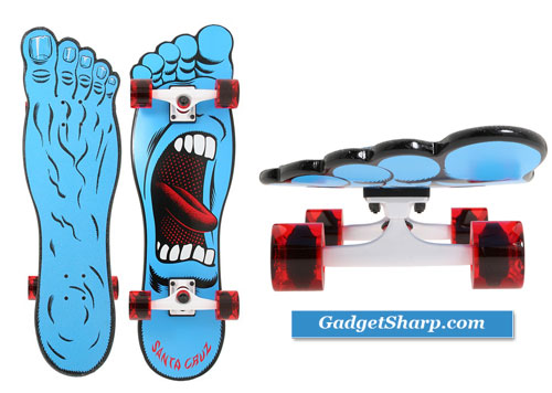 Santa Cruz Screaming Foot Right Cruzer Complete Skateboard