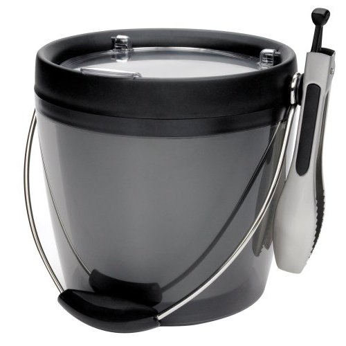 OXO Good Grips Plastic Ice Bucket with Ice Tongs