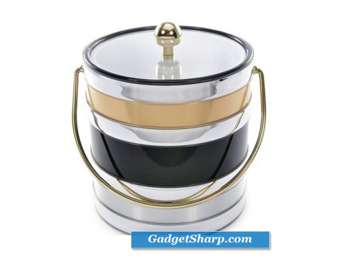 Mr. Ice Bucket 529-1 Black Tri Metal Ice Bucket, 3-Quart