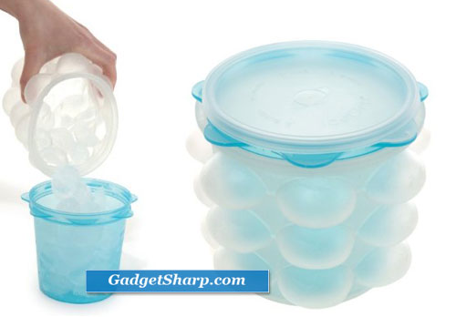 Fusionbrands Ice Orb Silicone Vertical Ice Cube Tray 63