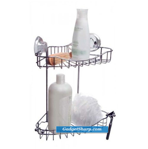 Sure-Loc Corner Shower Caddy (Chrome)