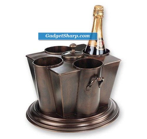 Old Dutch International Antique Copper 4 Bottle Wine Chiller